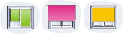 Рулонные шторы три вида крепления